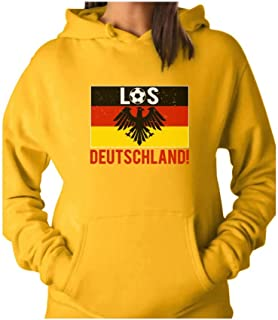 Tstars - Los Deutschland! Go Germany! Soccer Team Fans Women Hoodie