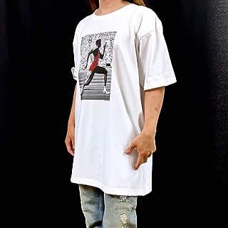 未使用 カールルイス ロサンゼルス オリンピック ビッグ Tシャツ XXL 3XL 4XL 5XL オーバー サイズ 100m アスリート 長袖 黒 対応 OK