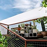 WM&LJP Gartenschirm,Rechteckig Sonnensegel Sichtschutznetz Verschlüsselung Draussen Sonnencreme Terrasse Pavillon Anti-UV,Mehrere Größen,White,3Mx4M