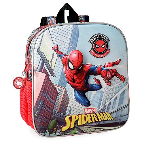 Spiderman Grafiti Preschool Or Nursery Backpack, 25 cm Front Part In 3D