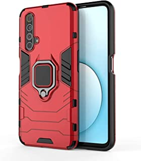 DOHUI Case for Realme X3 SuperZoom, [Shock Absorption] 2 in 1 Hybrid Armor Hard Back Case Cover with Kickstand for Realme ...