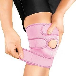 بریس قابل تنظیم بریسو برای حمایت از زانو برای خانمها - درد آرتروز ، بهبودی آسیب ، دویدن ، تمرین ، KS10 (صورتی)