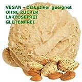 1 Kg Wiener Mandel Geschmack Eispulver VEGAN - OHNE ZUCKER - LAKTOSEFREI - GLUTENFREI - FETTARM, auch für Diabetiker Milcheis Softeispulver Speiseeispulver Gino Gelati