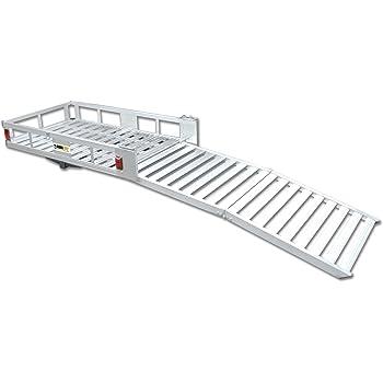 """MaxxHaul 70275 52-1/2"""" x 29"""" Aluminum Cargo Carrier with 60"""" Folding Ramp"""