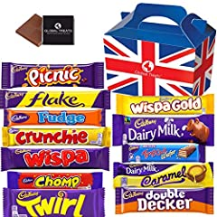 PLEASE NOTE: EXPIRY DATE OF CONTENTS IS IN UK FORMAT DAY/MONTH/YEAR. Cadbury Selection of UK favourite Chocolate Bars. The perfect chocolate gift for any occasion. Cadbury chocolate varies around the world. In the UK, the first ingredient in a classi...