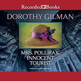 Mrs. Pollifax, Innocent Tourist                   By:                                                                                                                                 Dorothy Gilman                               Narrated by:                                                                                                                                 Barbara Rosenblat                      Length: 6 hrs and 6 mins     522 ratings     Overall 4.7