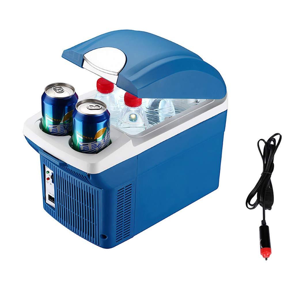 Amazon.es: LJJBOX Nevera Portatil Coche, Coche Frigorífico, Caja de Aislamiento del Refrigerador, Nevera Camping Electrica, Blue-8L