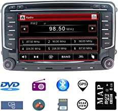 Navegador GPS estéreo para auto para VW,unidad doble Din Head 7 pulgadas 2 din.Estéreo para auto con reproductor de CD DVD Soporte GPS,USB SD,FM AM RDS,Bluetooth,SWC,con tarjeta de mapa de 8GB gratis