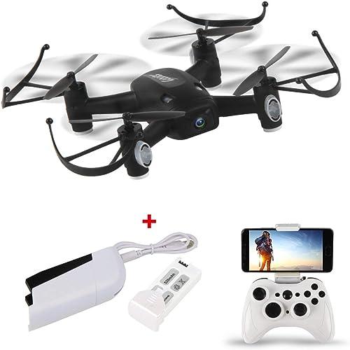 Ballylelly-RC-Drohne mit CameraL8HW-Mini-Selfie-RC-Quadcopter-Drohne mit WiFi-FPV-Drohne - 720P-Kamera - H nstand-Headless-Modus - 360 ° - Spiegeln ZWeißatterien RTF