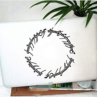 """Guduis Wall Sticker Removable Vinyl Mural Decal Quotes Art Hobbit Decals 6"""" Elvish Circle Sticker Inspired by The Lord of The Rings for MacBook, Laptop, etc."""