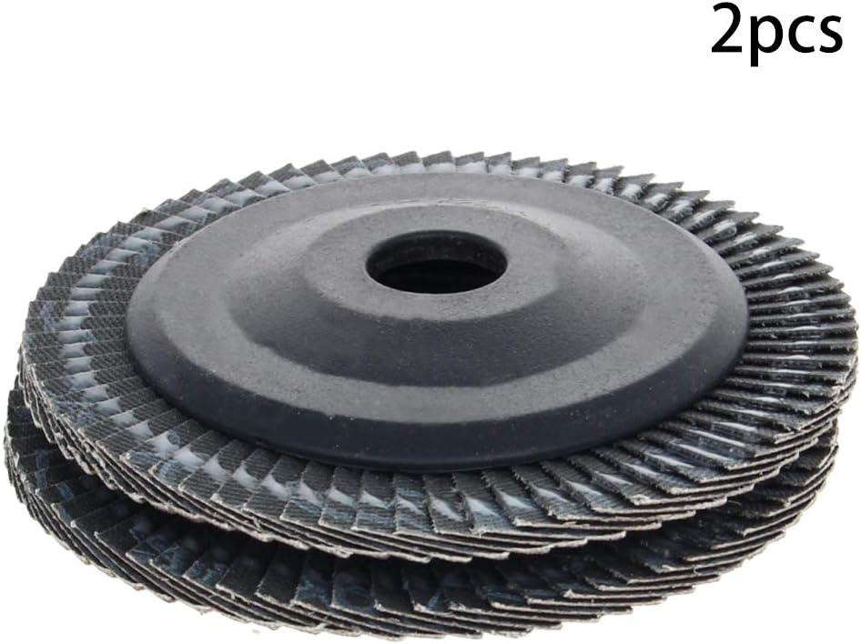 Utoolmart 100 mm Flap Disc 60 Grana di Ossido di Alluminio Assortiti Mole per Metallo Legno Levigatura Lucidatura 10pcs