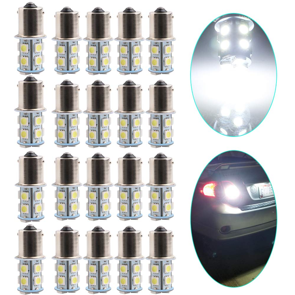 Led Lights for Car Interior Dome Light Map Light Bulb Door Courtesy Lights Led License Plate Light 3030Chipset 2SMD EverBright 10Pack BA9S Led 1895 T4W T11 64111 BA9 Led Bulb White
