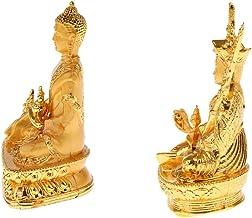 Generic 2pcs Buddha Statue Religion Sculpture Buddhist Figurine Home Decor Figurine