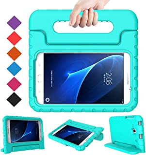 BMOUO Kids Case for Samsung Galaxy Tab A 7.0 - EVA Shockproof Case Light Weight Kids Case Super Protection Cover Handle Stand Case for Kids Children for Samsung Galaxy Tab A 7-inch Tablet - Turquoise