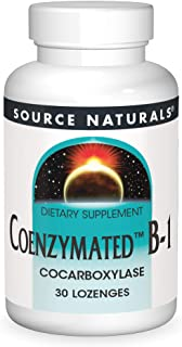 Source Naturals Coenzymated B-1 25mg Fast Acting Thiamin Cocarboxylase Quick-Dissolve - 60 Lozenges