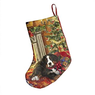 LWTDGG Christmas Bernese Mountain Dogs Gift Tree Themed Christmas Stockings Decoration Xmas Socks Ornament 18 Inch XL Larg...