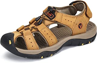 PAMRAY Men's Sport Sandals Closed Toe Outdoor Hiking Beach Shoes Athletic Summer Fisherman Walking Breathable US 6-12