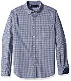Nautica Men's Classic Fit Stretch Gingham Long Sleeve Button Down Shirt, j Navy, XX-Large