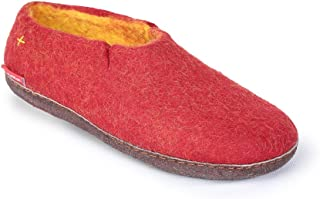 Hand Felted Wool Slippers for Women and Men - Hide or Rubber Sole - Many Colors - Fairtrade Classic Boot