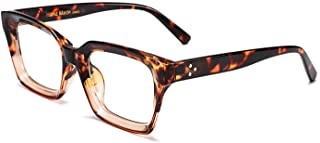 FEISEDY Classic Square Eyewear Non-prescription Thick Glasses Frame for Women B2461