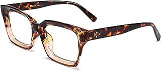 Classic Oprah Square Eyewear Non-prescription Thick Glasses Frame for Women B2461