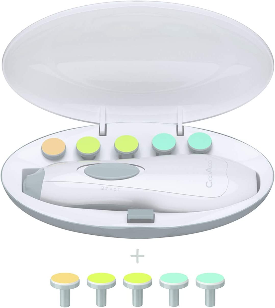 Baby Nail Trimmer File with It is very popular LED - Nai Cheap super special price Light CooAoo Safe Electric