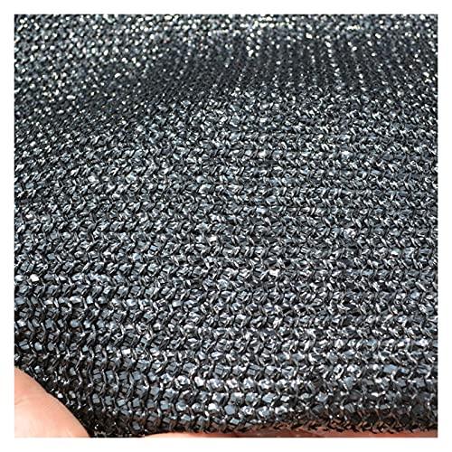 LSSB Bloqueador De Sombra Sombra HDPE Drop Temperatura Blackout Shade Netting para Flores Al Aire Libre Aparcamiento De Techo Piscina, Personalizable (Color : Black, Size : 1x1m)