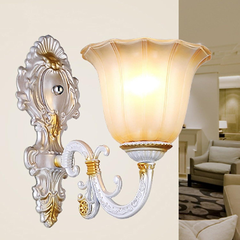 QFF Europische Art-Wand-Lampen-Schlafzimmer-Nachttischlampen-Wohnzimmer-kreative Treppen-Wand-Lampe Retro- Kristalllicht ( gre    1 )