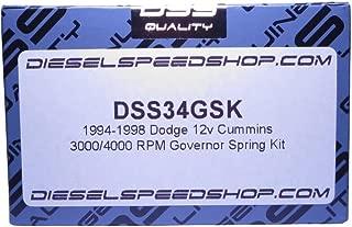 Dieselspeedshop.com replacement for 1994-1998 12 valve 12v Dodge, 3000/4000 RPM Governor spring kit 3k 4k gsk
