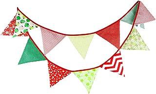 comprar comparacion G2PLUS 3.3M banderines Guirnalda de banderines,Banderines de Tela,Guirnalda Fiesta,Triángulo Banner,para decoración,Fiesta...