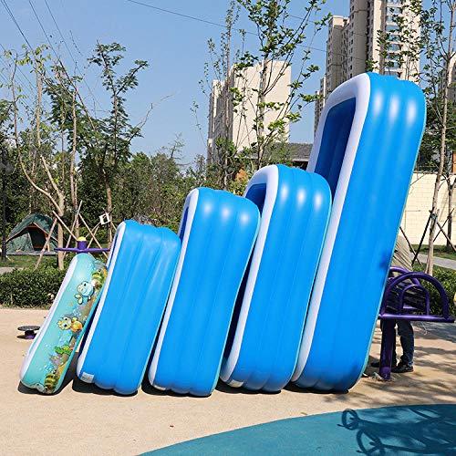 XINDUO Aufblasbarer Familienpool.Verdickter aufblasbarer Pool im Haushalt im Freien - Blau und Weiß_XL.Kinderpool aufblasbar rechteckig