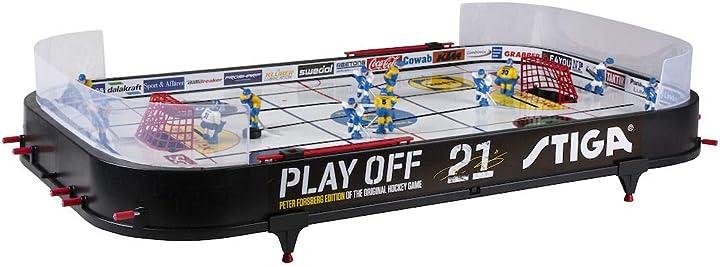 Gioco hockey unisex bambini, black/white, 96 x 50 cm stiga play off 21 svezia-finlandia 71-1145-01