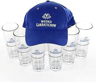 Wodka Gorbatschow Gläser Longdrink-Glas geeicht inkl. Cappy ~mn 1063 6g1r