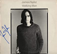 JAMES TAYLOR SIGNED AUTOGRAPH RECORD, ALBUM, VINYL - WALKING MAN - LEGENDARY FOLK COUNTRY ROCK SINGER SONGWRITER - ROCK AND ROLL HALL OF FAME - CARLY SIMON - SWEET BABY JAMES, MUD SLIDE SLIM AND THE BLUE HORIZON, ONE MAN DOG, IN THE POCKET, DAD LOVES HIS WORK, NEW MOON SHINE, HOURGLASS, OCTOBER ROAD, A CHRISTMAS ALBUM, COVERS, BEFORE THIS WORLD, AMERICAN STANDARD, NEVER DIE YOUNG, GORILLA, JT, THAT'S WHY I'M HERE, FLAG