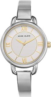 Anne Klein Women's Silver Dial Metal Band Watch - AK2797SVTT