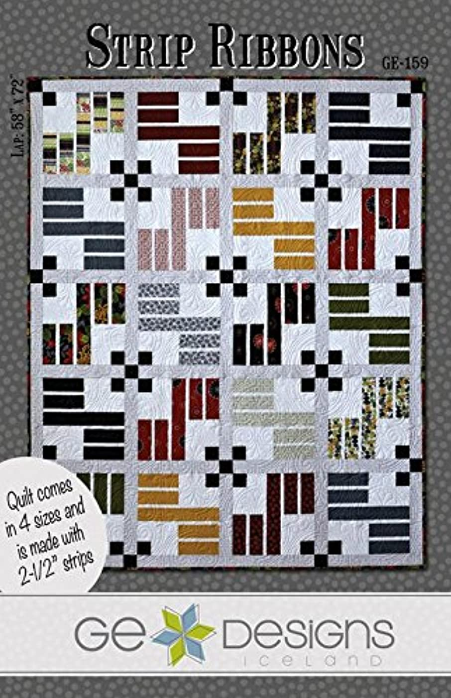 Strip Ribbons Quilt Pattern by GE Designs KGE159