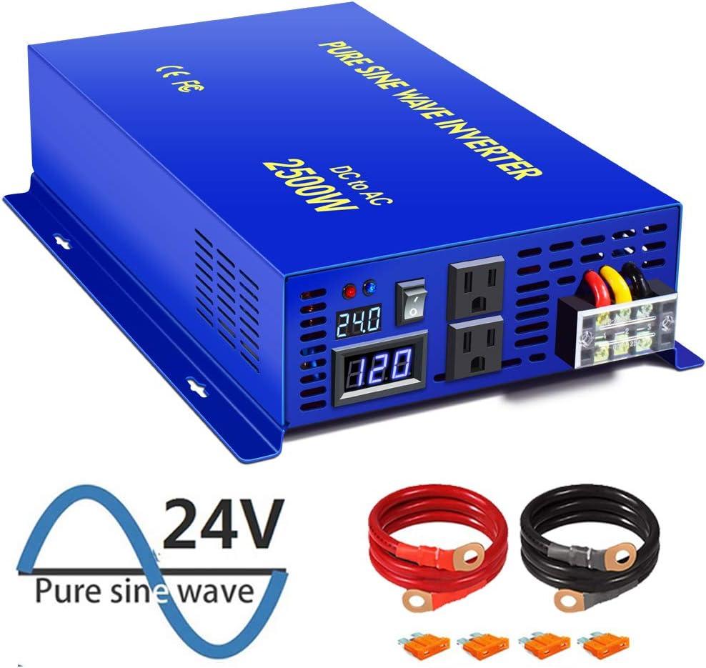 XYZ INVT Pure Sine Wave Inverter 24V Quality inspection Watt Powe 120v to 110v Milwaukee Mall 2500