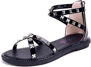 558cc51f MEILI Sandalias de moda mujer Sandalias con tachuelas planas