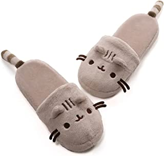 GUND Pusheen Cat Plush Stuffed Animal Slippers, Tan, 12