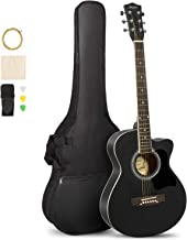 ARTALL 39 Inch Handcrafed Acoustic Cutaway Guitar Beginner Kit with Gig bag & Accessories, Matte