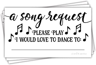 50 Song Request Cards - Party Music DJ Suggestion Cards