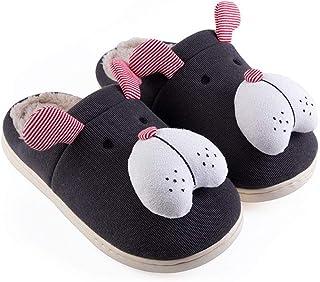 Felpa Zapatillas Peluche De Animales - Lindo Perro Animal Pantuflas - Regalo Zapatos por Casa - Adultos Y Niños - Hombre Y...