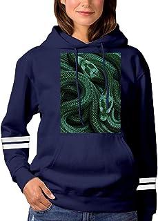 Cool Green Snake Pattern Sweatshirt 3D Print Hoode Sweatshirts Funny Pullover Tops Fall Winter for Women