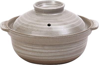 マルヨシ陶器 土鍋 5号 大黒刷毛目 M7516