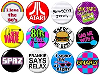 Misc. 80's BUTTONS (set #1) pins slogans sayings 1980's new