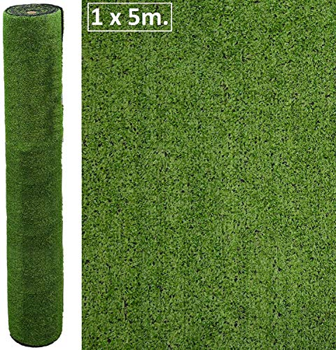 Artificial Lawn Outdoor Lawn Roll 1x5mm, Grass Height 7mm - Kunstrasen Erba Artificial Gazon Artificial - Cesped Terrace, Garden, Pool, Dog.