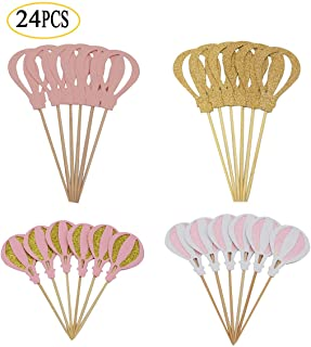 Pack of 24 Hot Air Balloon Cupcake Topper for Baby Birthday Party Decoration