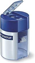 Staedtler Noris 512, Taille-crayon de haute qualité à deux usages, Pour crayons à papier et crayons de couleur standards, Avec réservoir cylindrique et fermeture hermétique, 512 001