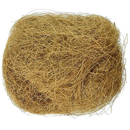 Material für Nester - Kokos faser, 100 g - kokosfasern Nistmaterial Hanffasern für Vögel, Bird Nesting Material Breeding Bedding, Pflanzmedium für Topfblumen und Gemüseanbau, Oberfläche Staubdicht