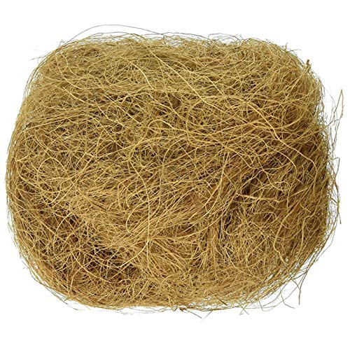 Luoji Bird Nesting Material, Natural Coconut Fiber, Comfortable Bedding For Small Birds And Animals, Great For Nest Building And Hideouts - 100g